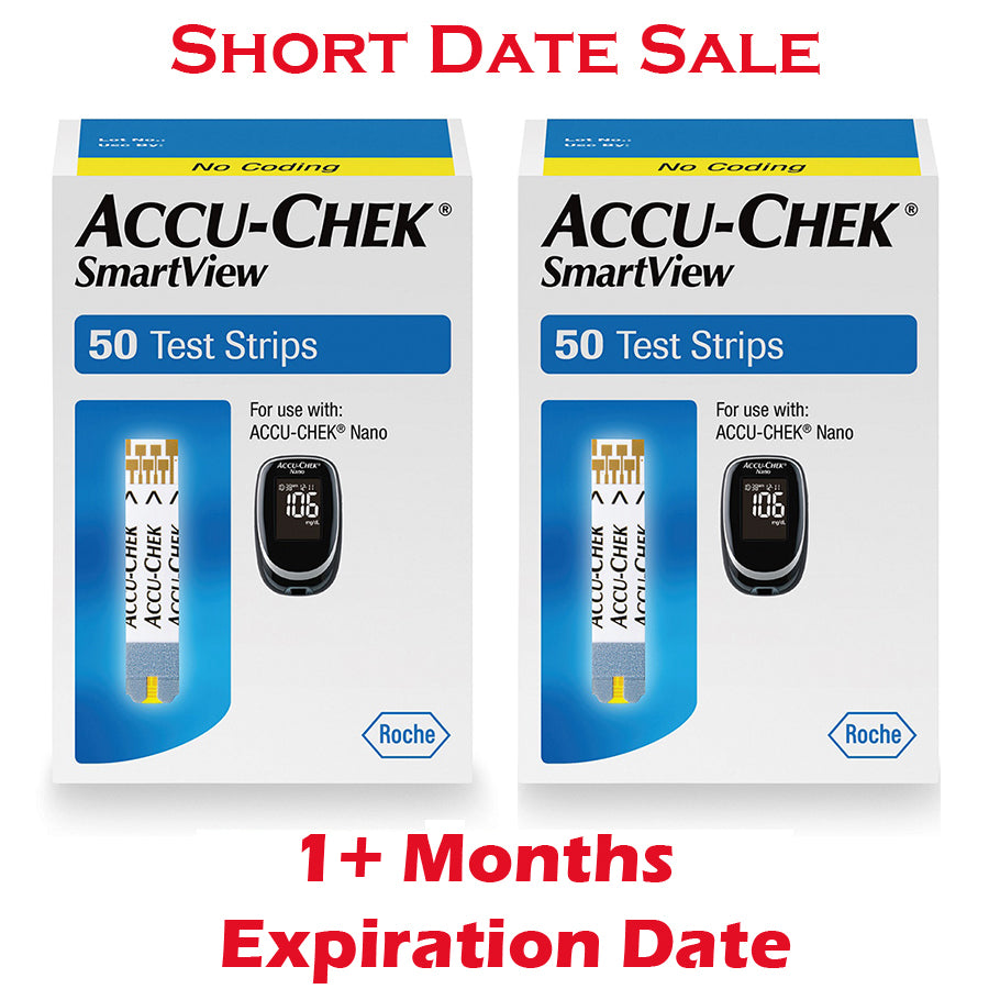 Accu-Chek SmartView Test Strips 100ct - Short Dated - 1 Month