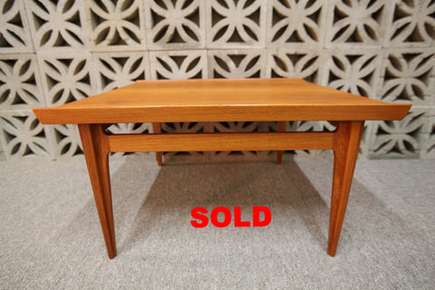 "Vintage Finn Juhl Teak Coffee Table #535 for France and Sons Denmark (33""x30.75""x17.75""H)"