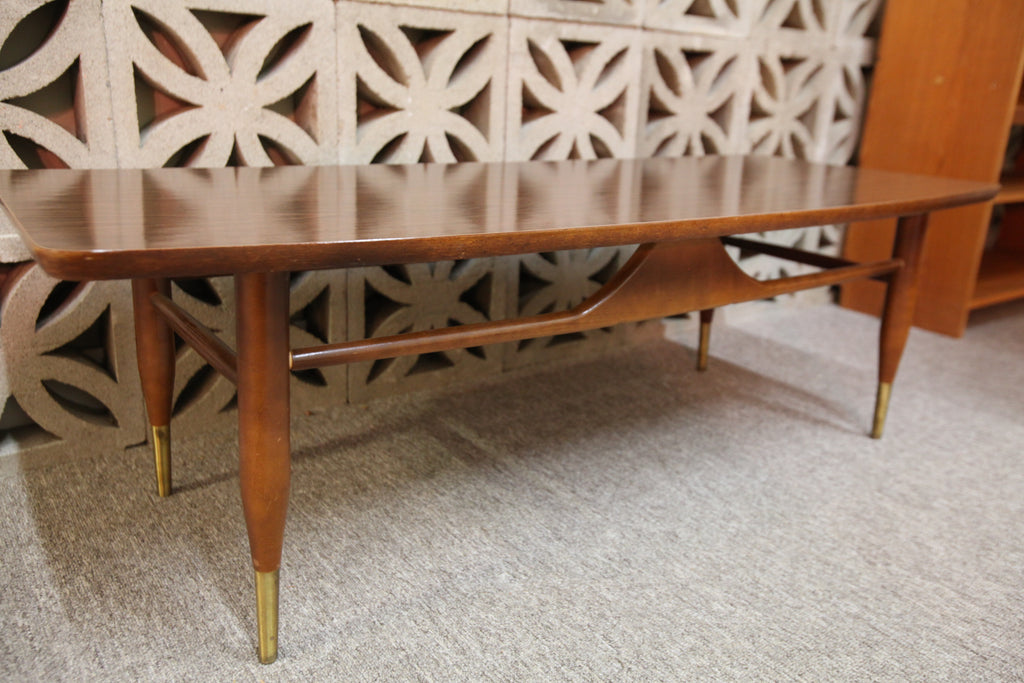 "Vintage Retro Arborite Surface Coffee Table (47.5""L x 19.25""W x 15""H)"