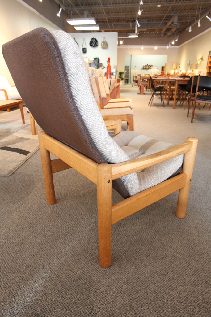 "Vintage Domino Mobler Danish Teak Lounge Chair (28""W x 30""D x 36.5""H)"