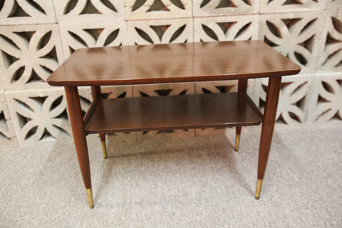 "Vintage Retro Arborite Surface Side Table ((29.5""L x 17.75""W x 20""H)"