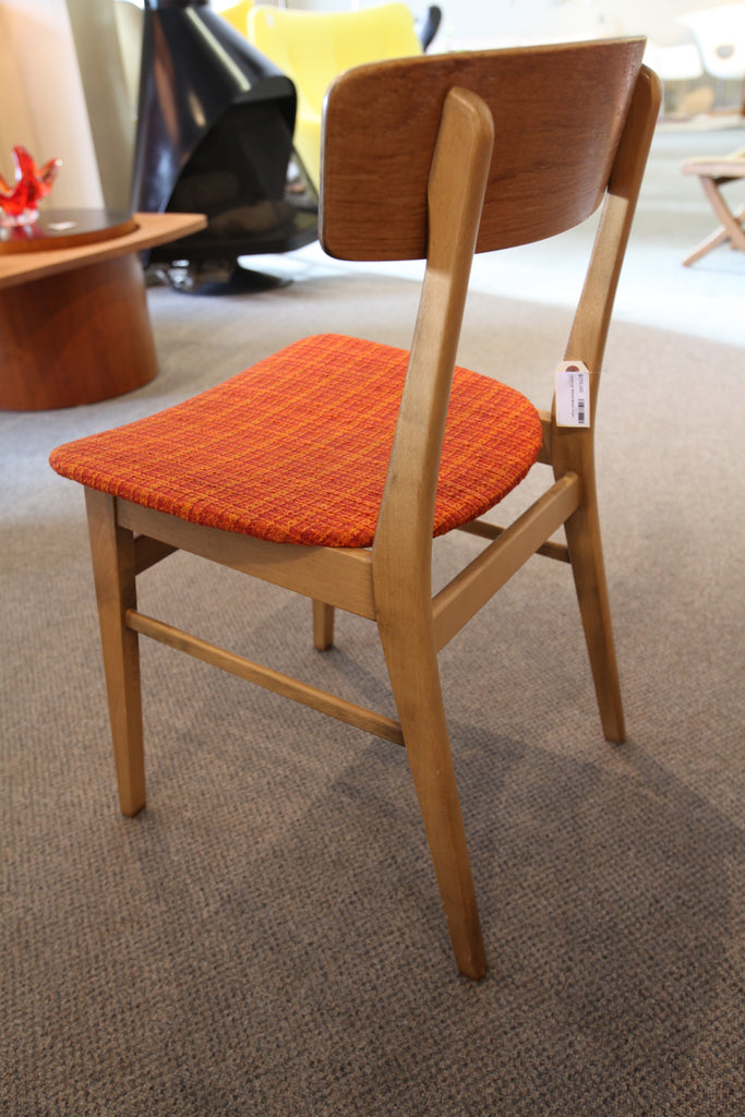 Vintage Farstrup Wood Back Danish Teak Chair