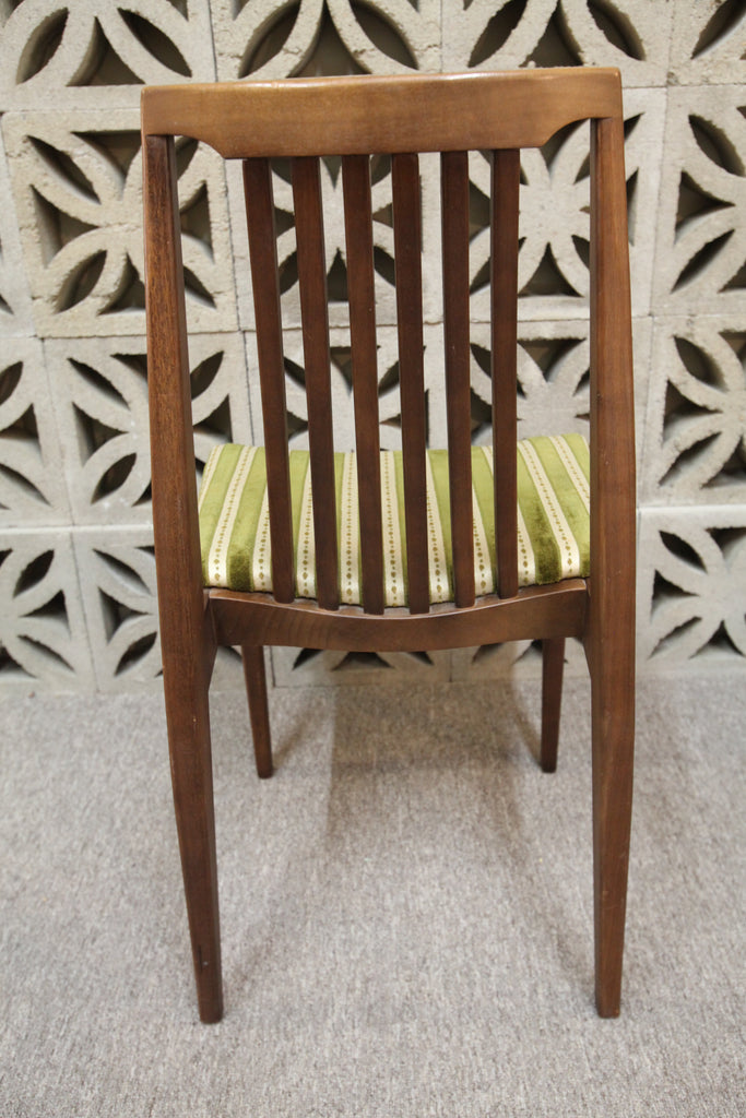 Set of 4 Vintage Honderich Walnut Dining Chairs