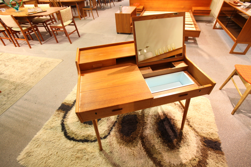 Arne Wahl Model 65 Teak Secretary Desk for Vinde Möbelfabrik