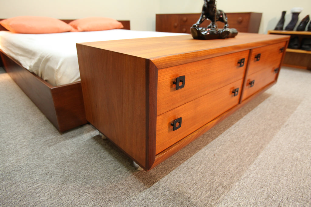 "Lower 4 Drawer Teak Unit by RS Associates Montreal (54""L x 18""D x 18""H)"