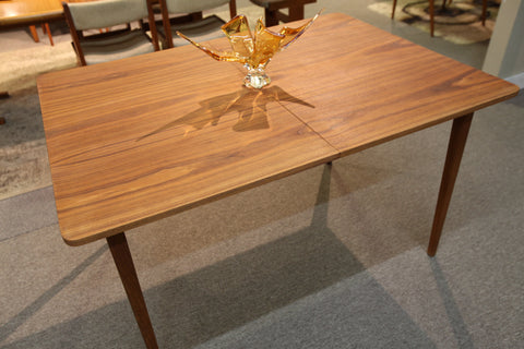 "Vintage Walter of Wabash Teak Table w/ Leaf (76"" x 38"") or (52"" x 38"")"
