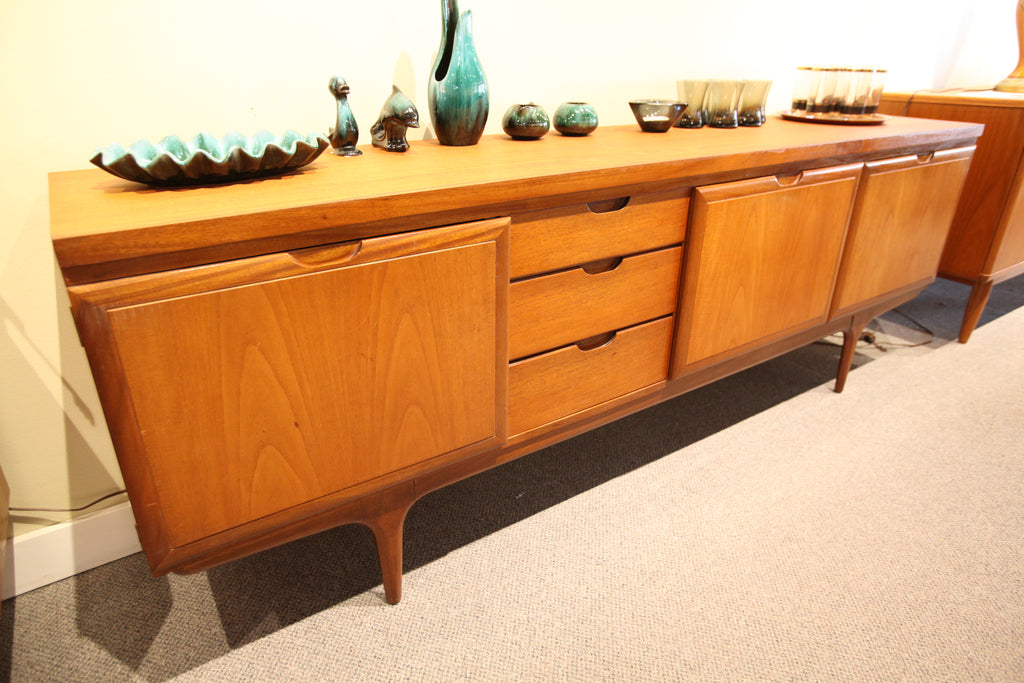 "Danish Teak Credenza by Greaves & Thomas (86.5""L x 17.5""D x 30.25""H)"