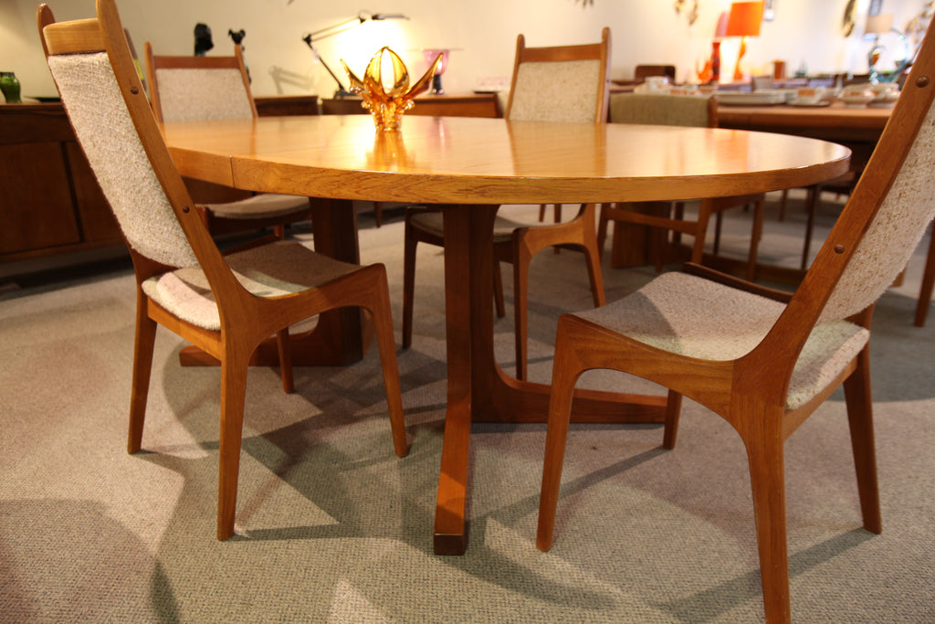 "Danish Teak Dining Table by Dyrlund (83.5""L x 42.75""W) or (64""L x 42.75)"