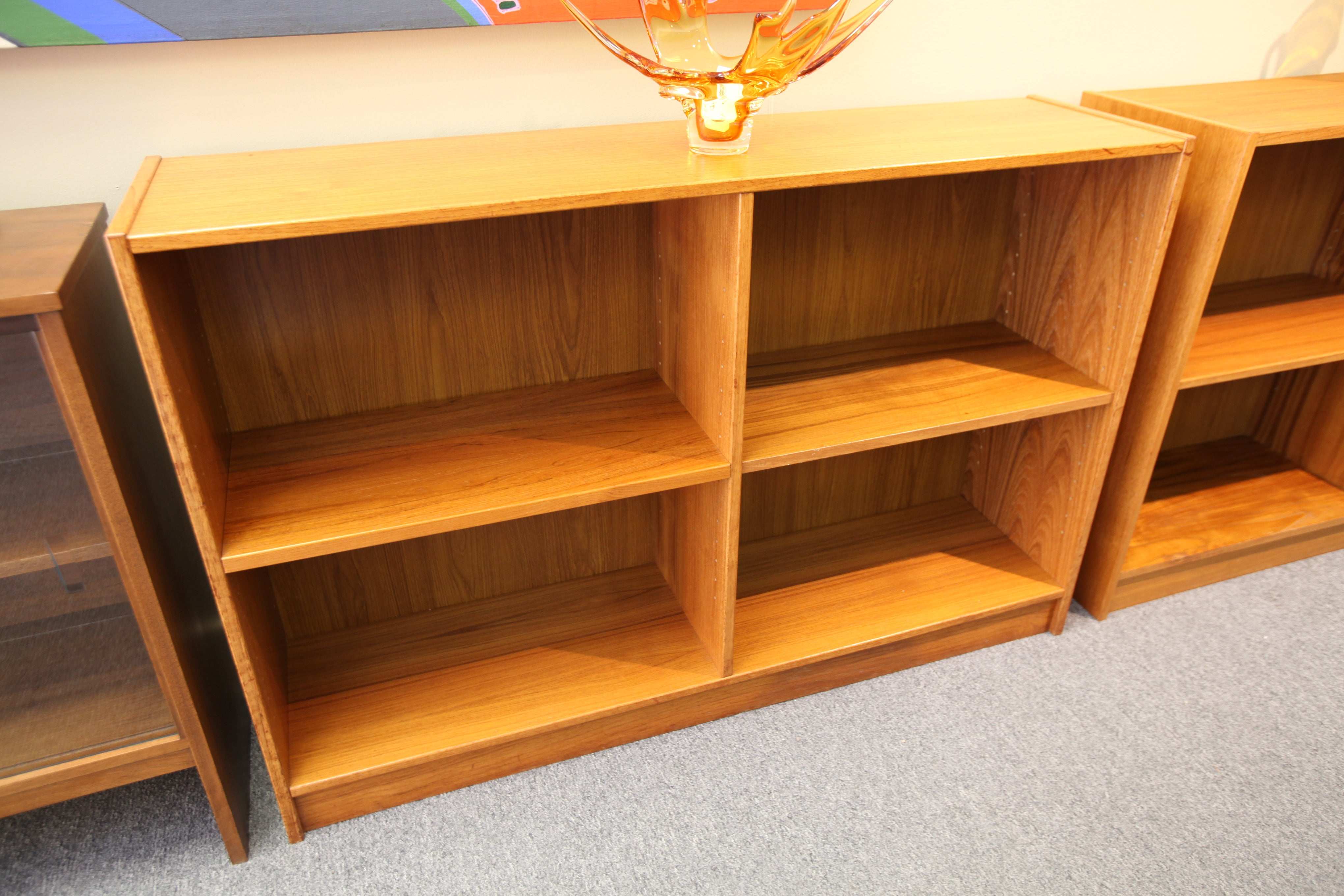 "Danish Teak Book Shelf (47.75""W x 12""D x 31.5""H)"