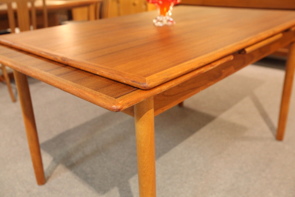 "Vintage Danish Teak Extension Dining Table (49.5"" x 33.5"" x 29""H) or (86.5"" x 33.5"" x 29""H)"
