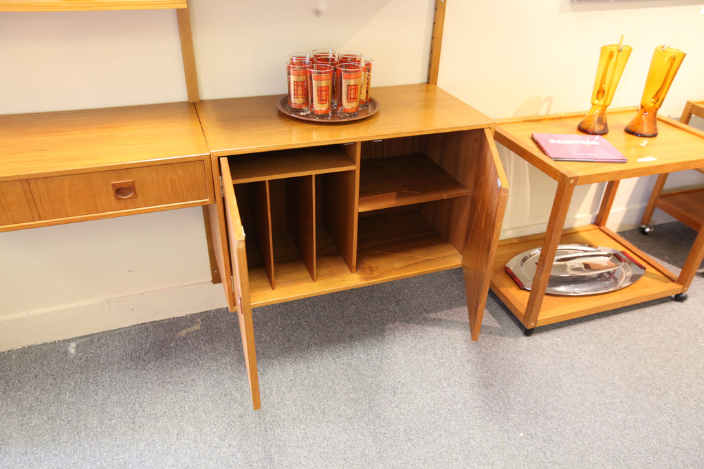 "Vintage Danish Teak Wall Unit (Aprox 64"" wide) Fully Adjustable."