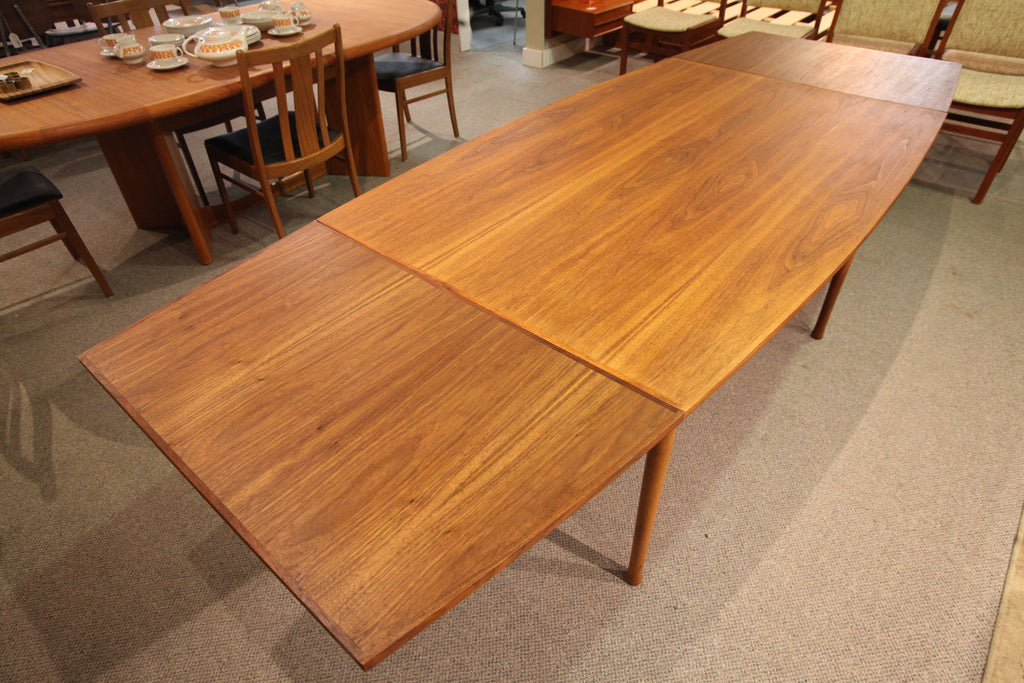 Vintage RS Associates Montreal Teak Surf Board Style Extension Dining Table