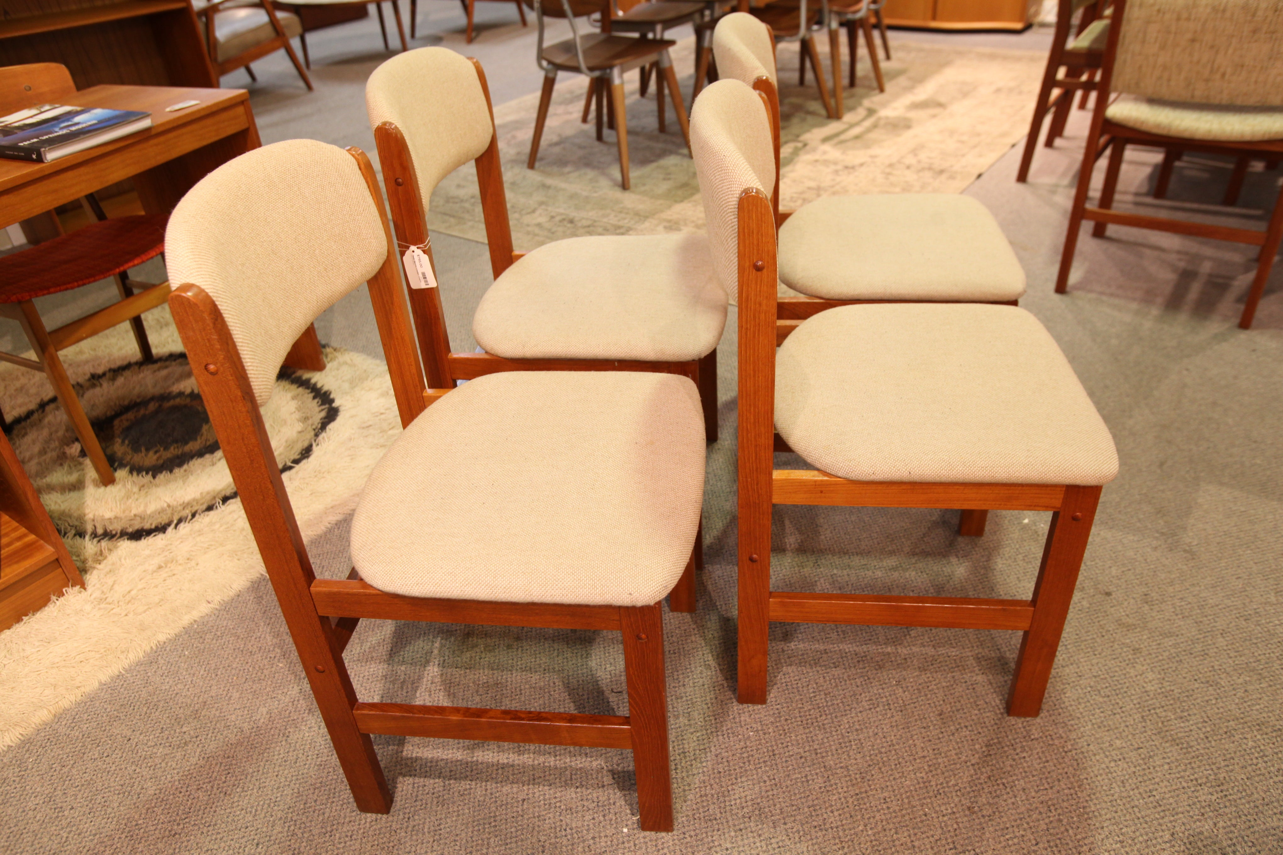Set of 4 Vintage Teak Benny Linden Dining Chairs