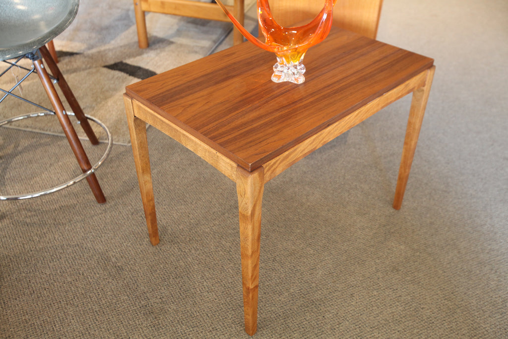 "Vintage Walnut End Table (28.5"" x 18"" x 22""H)"
