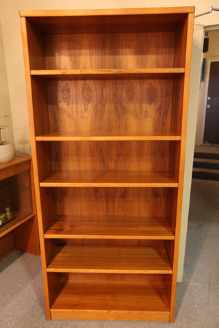 "Perfect Vintage Teak Book Shelf (36""W x 12.5""D x 79""H)"