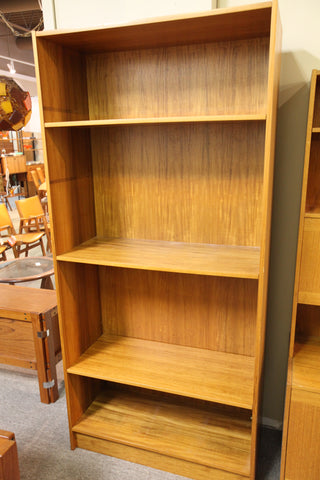 "Danish Teak Book Shelf (35.5""W x 15""D x 75.75""H)"