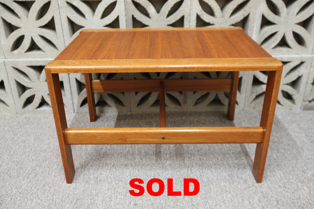 "Vintage Teak Side Table (28"" x 20"" x 17.75""H)"
