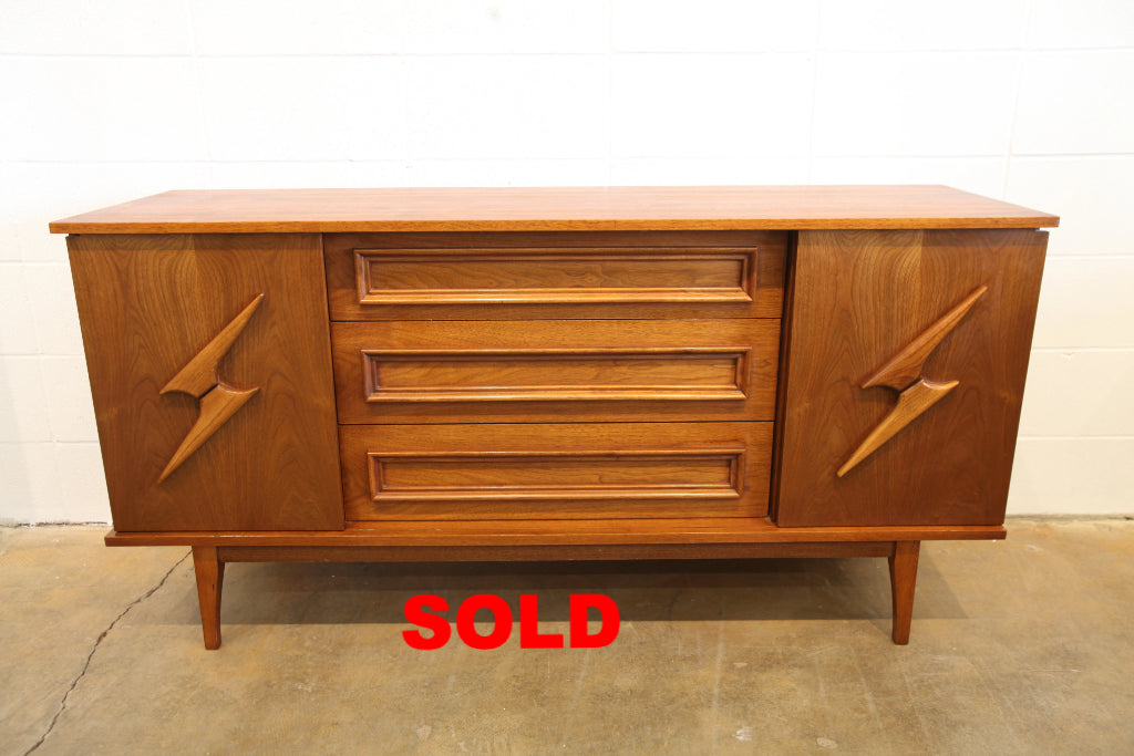 "Vintage Walnut 3 Drawer Sideboard (60""W x 18""D x 30""H)"