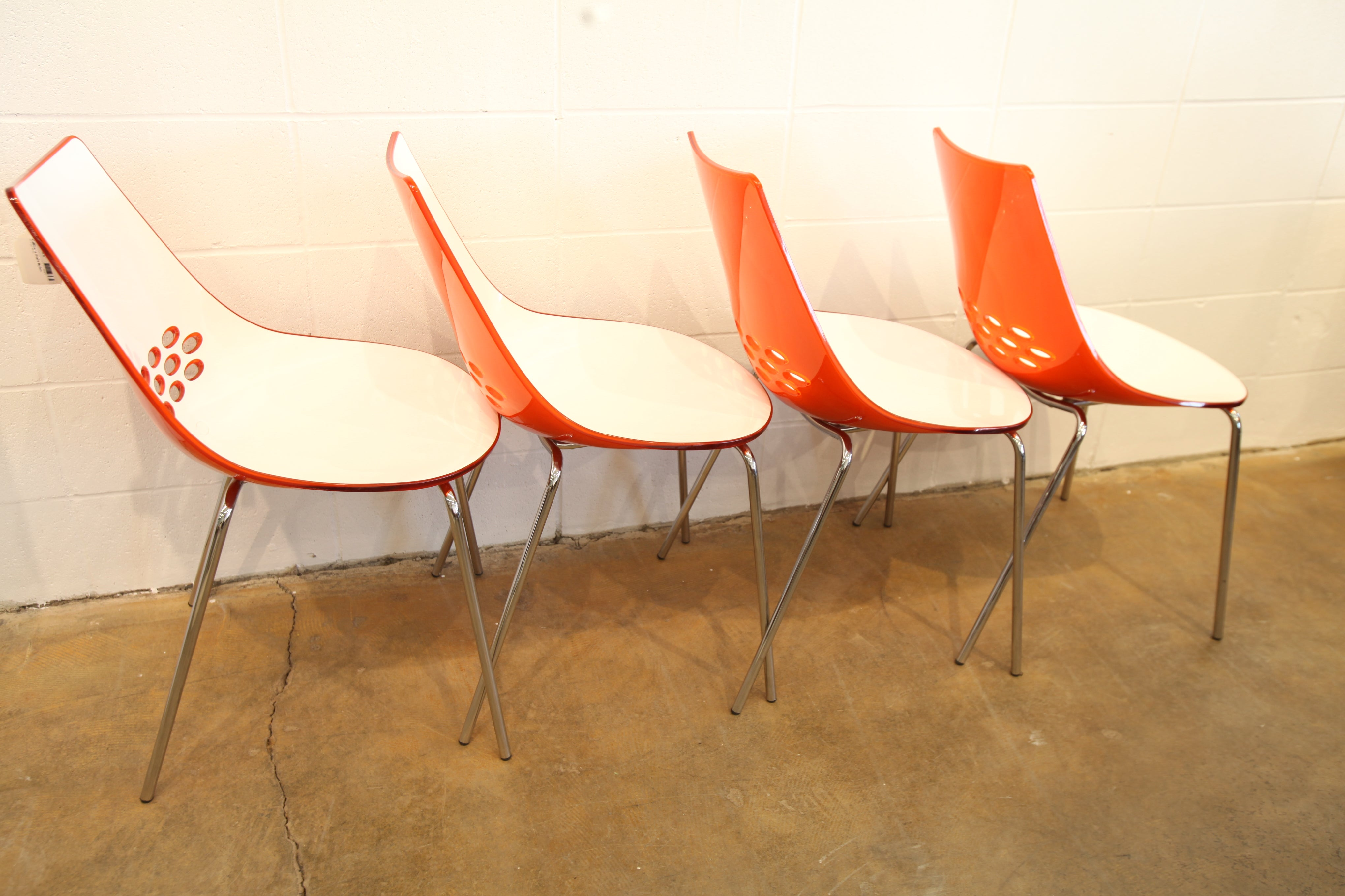 "Unique Vintage Set of 4 Calligaris ""Jam"" Chairs (Made in Italy)"