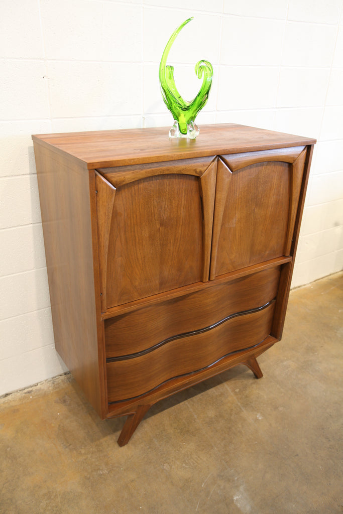 "Unique Vintage Walnut Tallboy (37.75""W x 20""D x 46.5""H)"