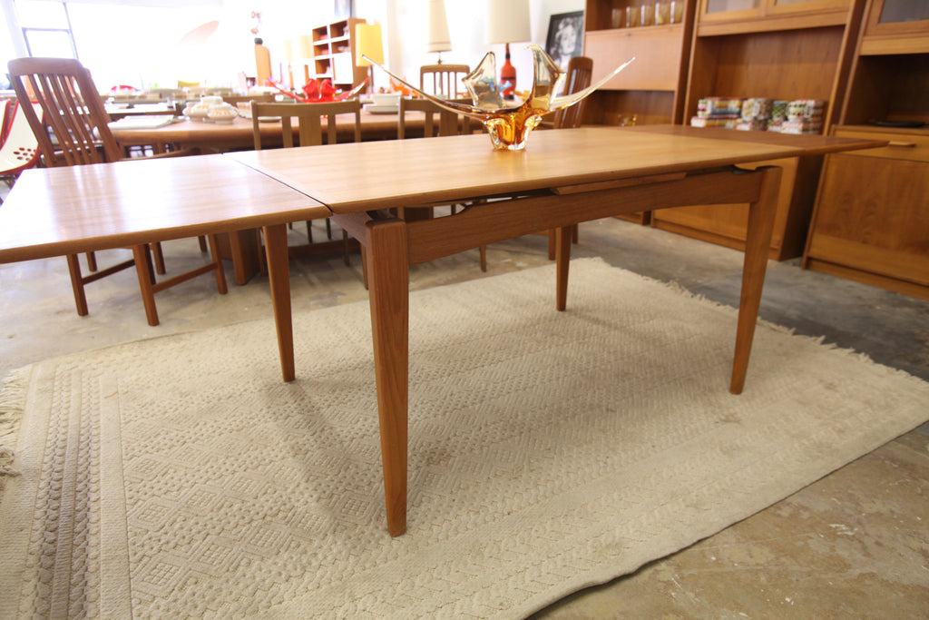 "Vintage Danish Teak Extension Dining Table (88.5""x34.5""x29""H) (52.5""x34.5""x29""H)"