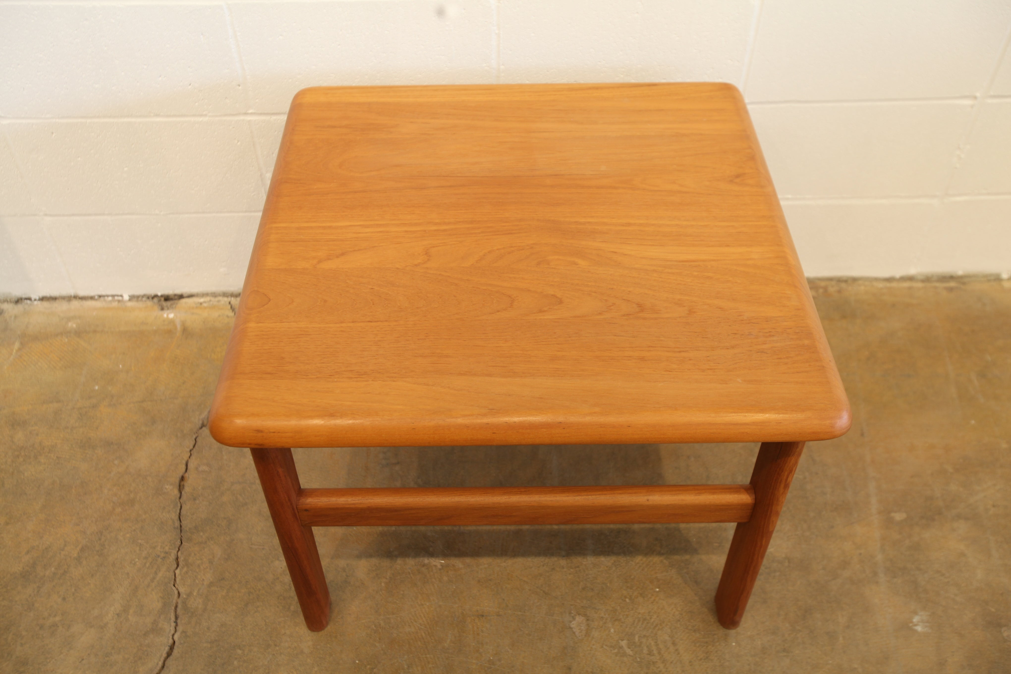 "Vintage Niels Bach Square Teak Side Table (27"" x 27.5"" x 20""H)"