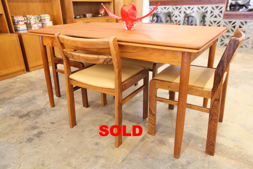 "Vintage Teak Extension Dining Table (97""x35"") or (55"" x 35"")"
