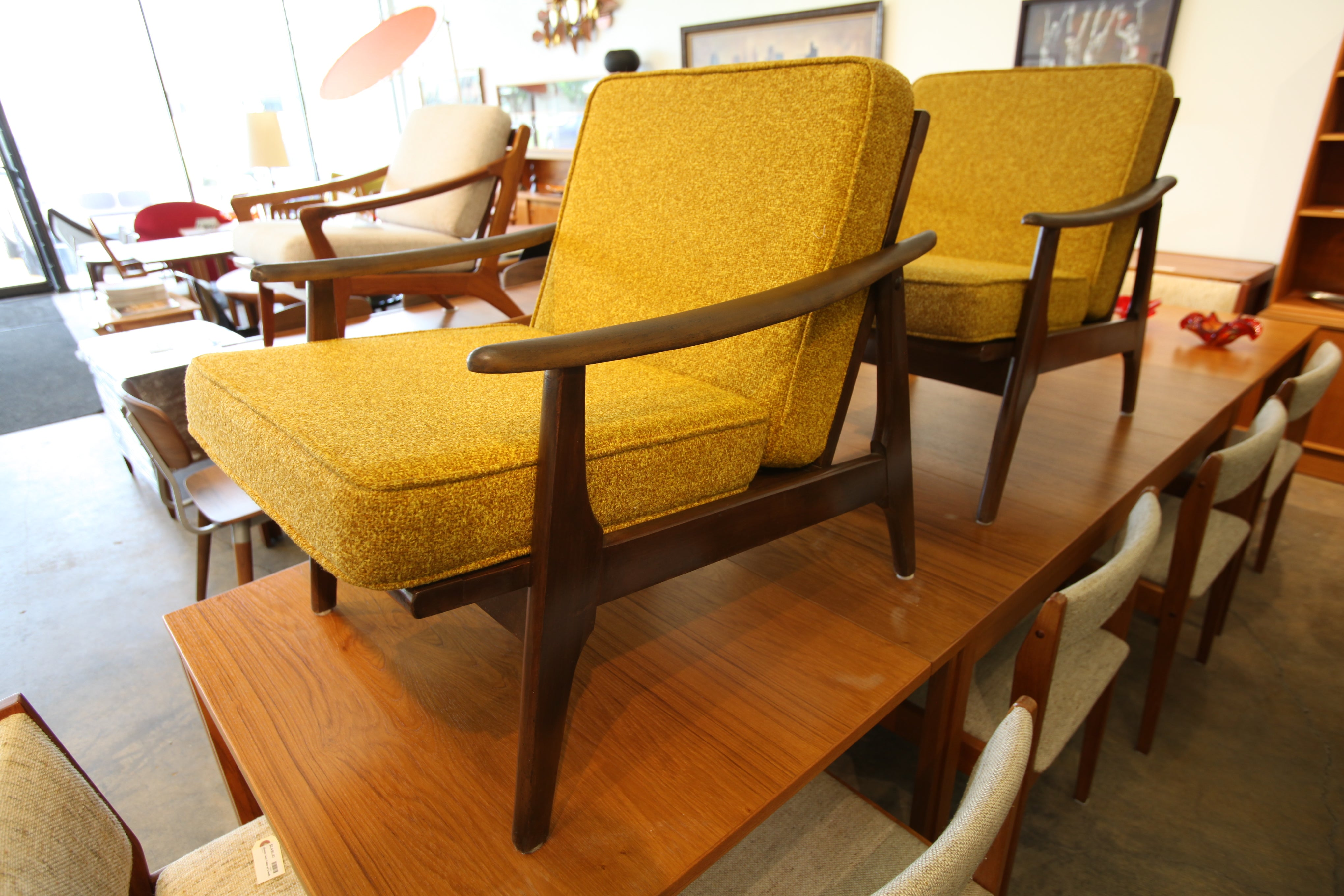 """Hard to Find"" Mid Century Walnut Lounge Chair (26""W x 30""H x 32""D)"