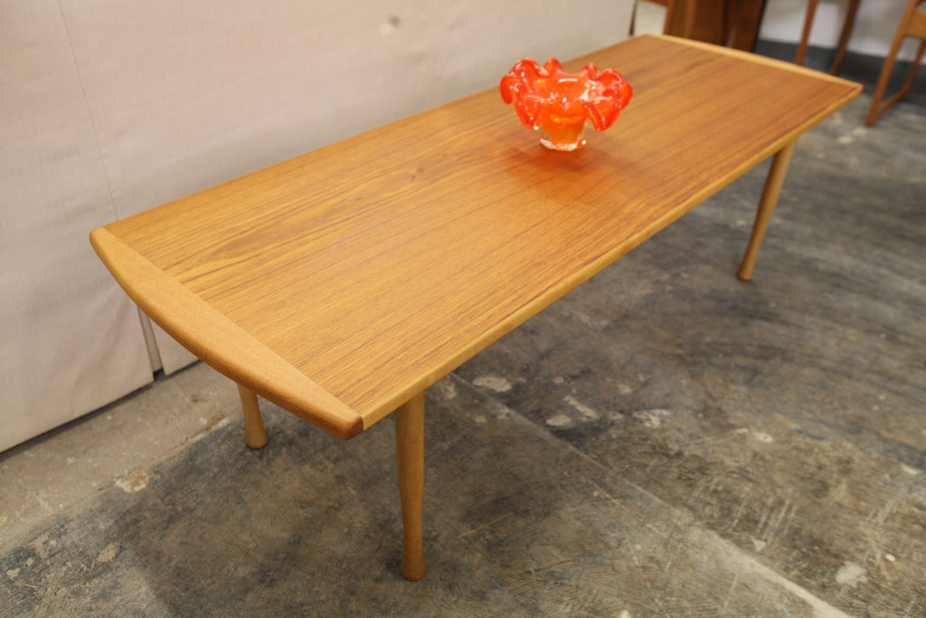 "Vintage Teak Coffee Table (56.5"" x 20"" x 17.25""H)"