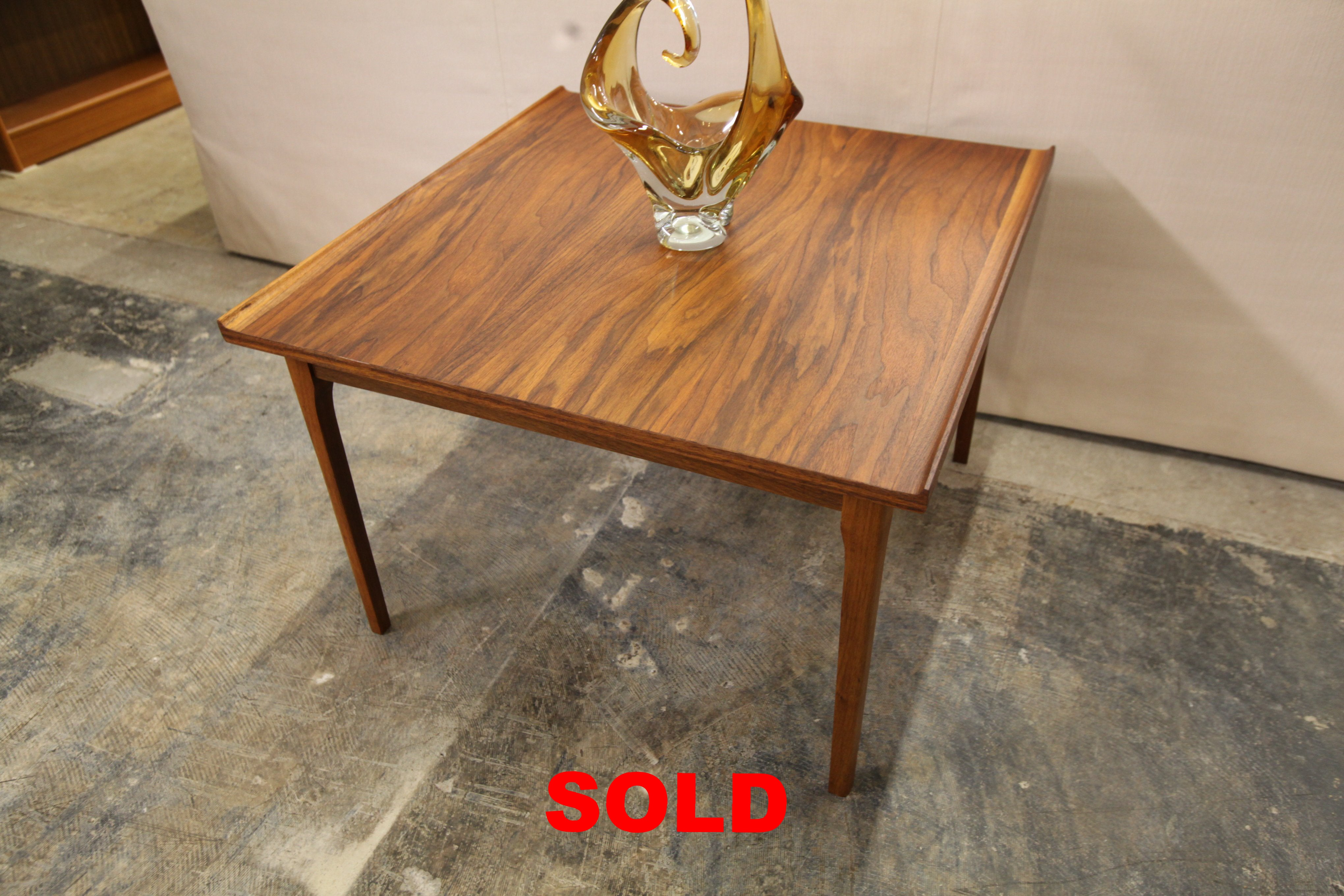 "Vintage Afromosia Square Teak Coffee Table (30"" x 30"" x 20""H)"
