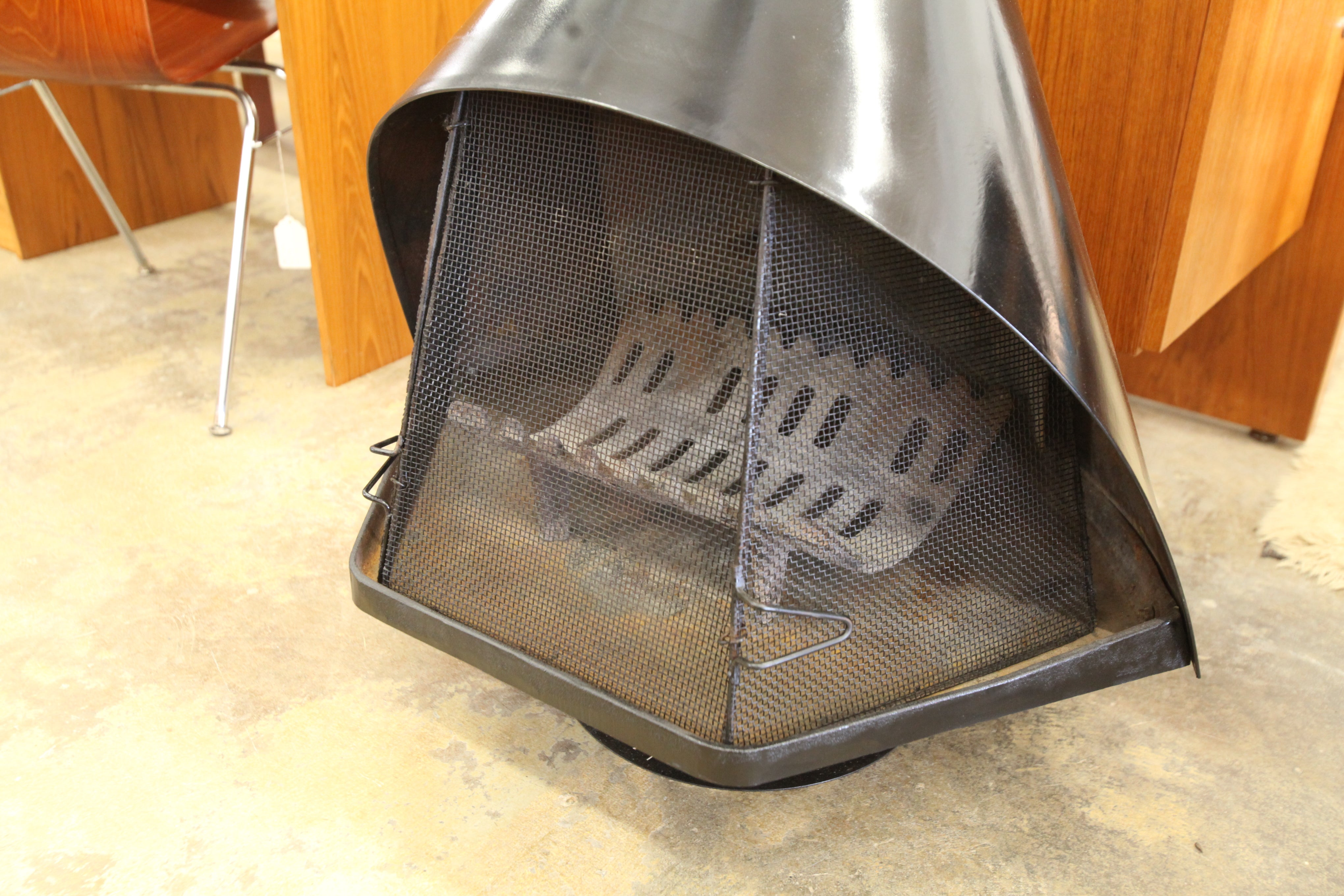 "Hard to Find Vintage Black Mid Century Fireplace (wood burning) (31""Wx58""Hx22""D)"