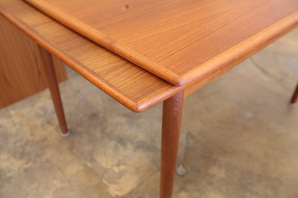 "Vintage Danish Teak Extension Dining Table (84.25"" x 32.5"") or (48"" x 32.5"")"