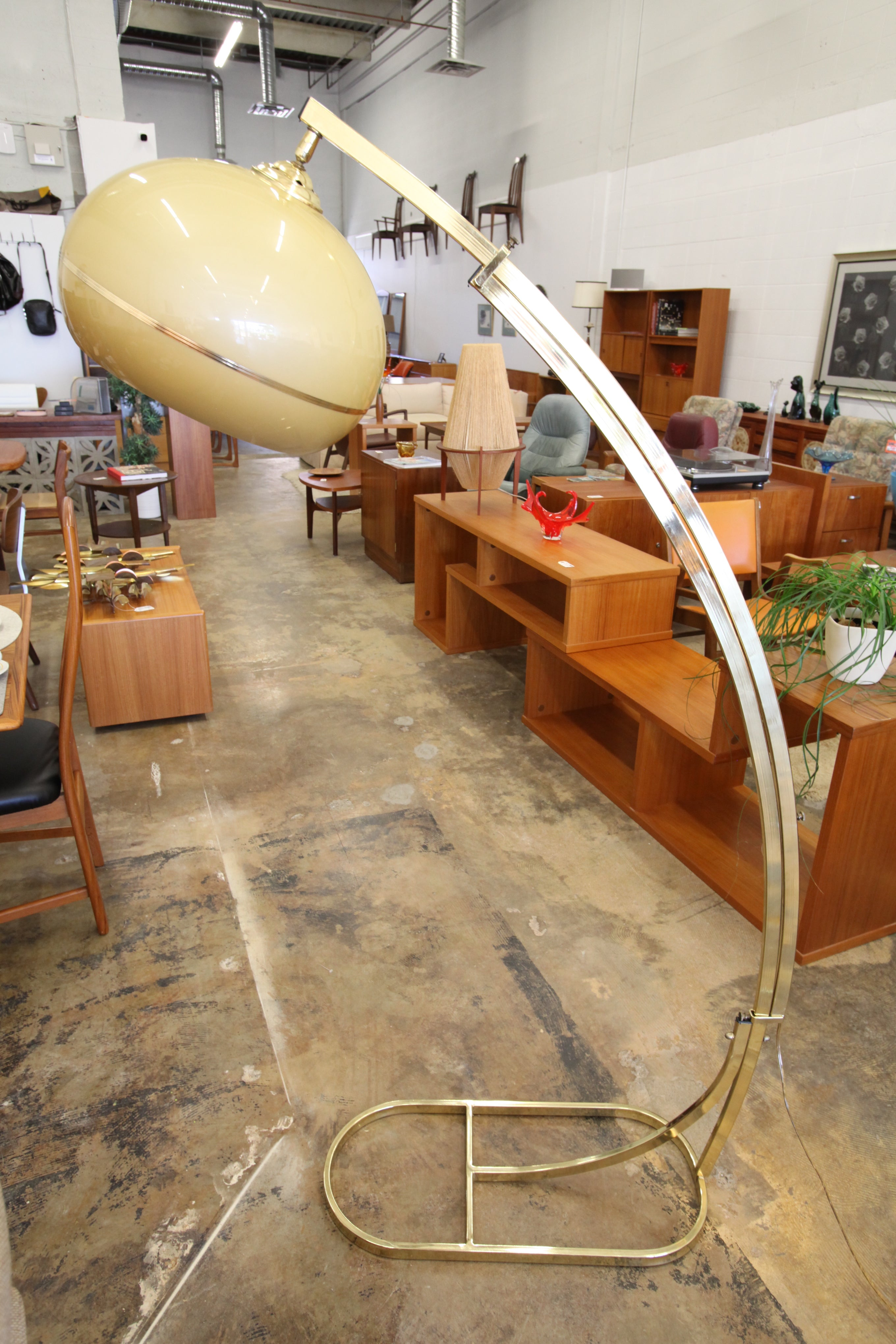 Vintage Brass Arc Lamp