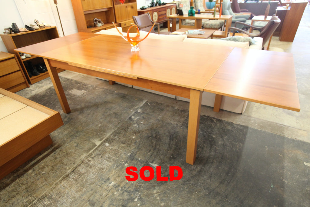 "Vintage Danish Made Extendable Wood Dining Table (71""x39.5"") or (110""x39.5"") 30""H"