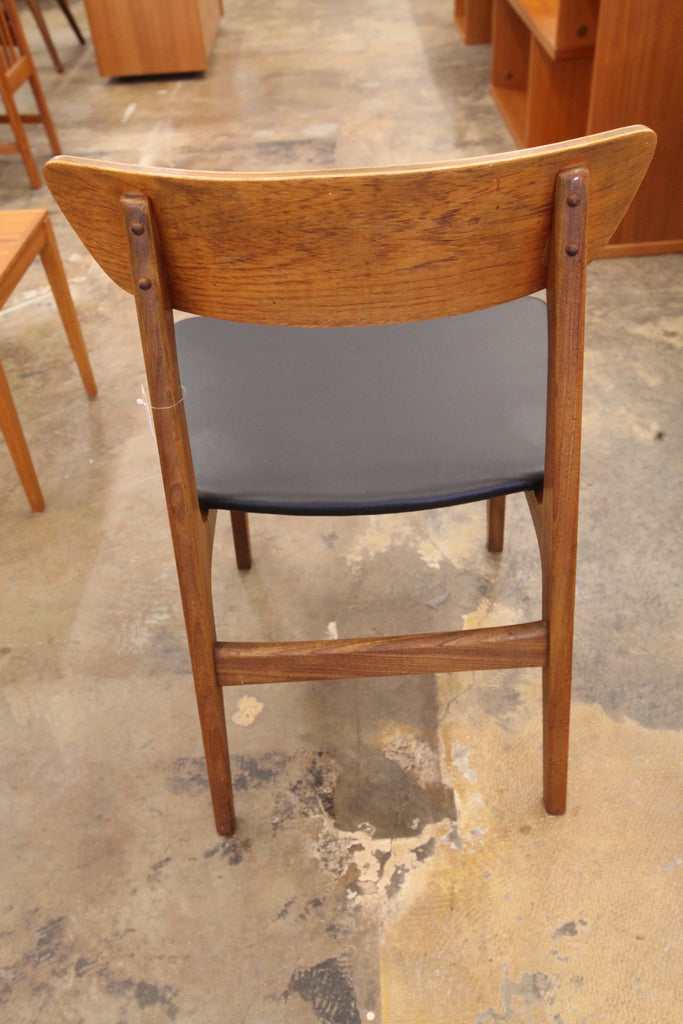 Vintage Danish Teak Wood Back Dining Chair