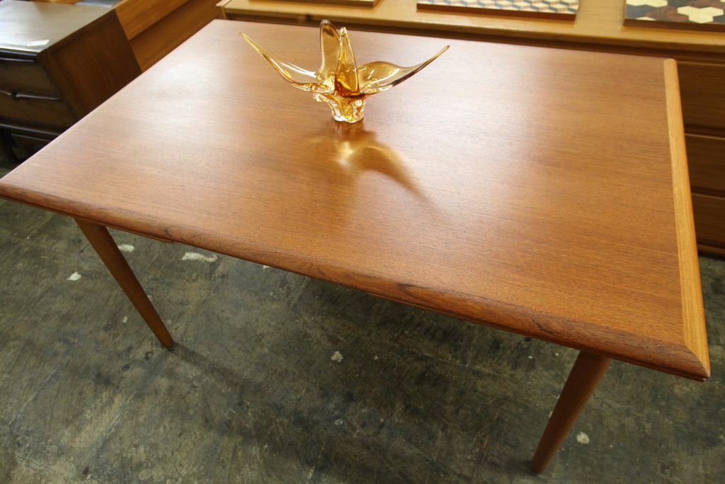 "Beautiful Vintage Danish Teak Extension Dining Table (53"" x 35"") or (90.25"" x 35"") 28.75""H"