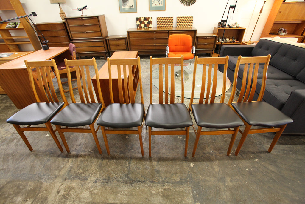 Set of 6 Vintage FARSTRUP Danish Teak Dining Chairs