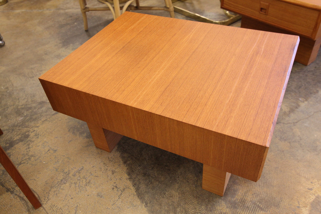 "Vintage Teak Side Table by Mobican (22"" x 30"" x 15""H)"