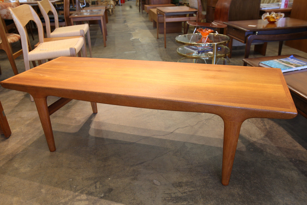 "Vintage Rectangular Teak Coffee Table (60""L x 22""W x 17.75""H)"