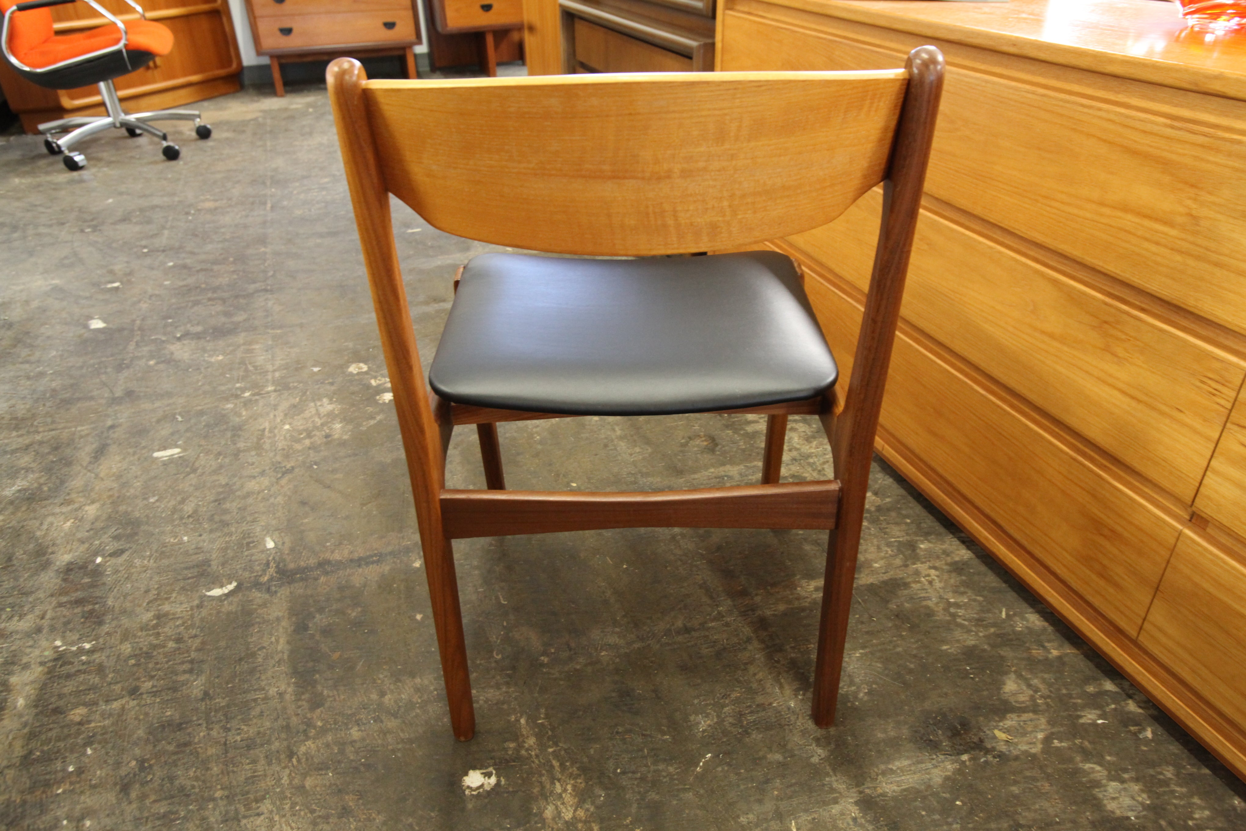Single Vintage Teak Dining Chair