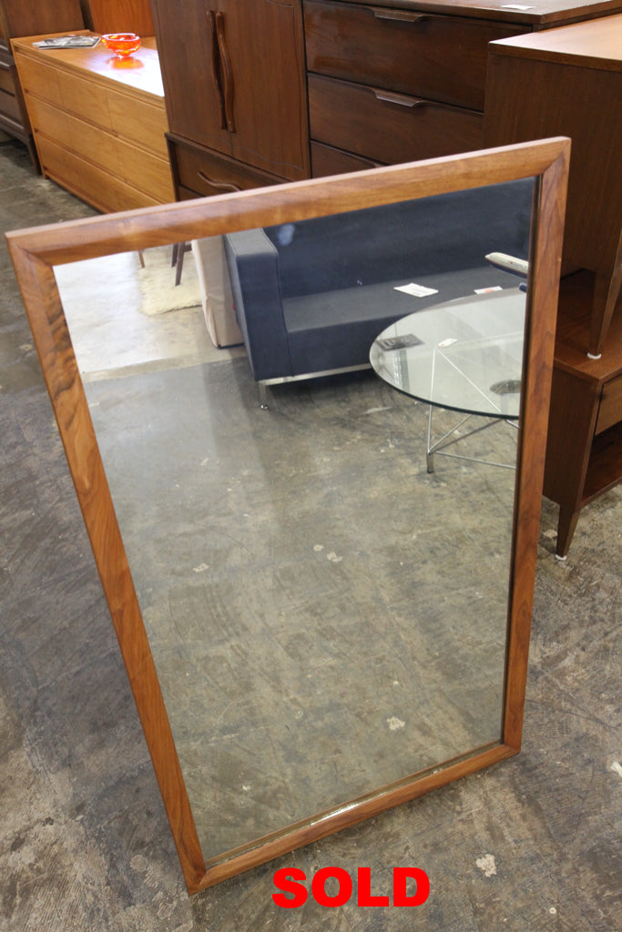 "Vintage Walnut Mirror (26.5"" x 44.5"")"