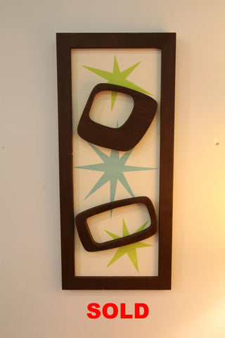 "Rectangular MCM Wood Shapes Art (12.75"" x 28.5"")"