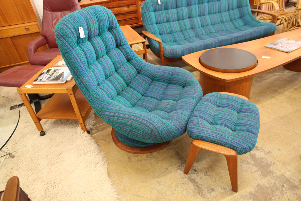 Vintage R.Huber Chair and Ottoman