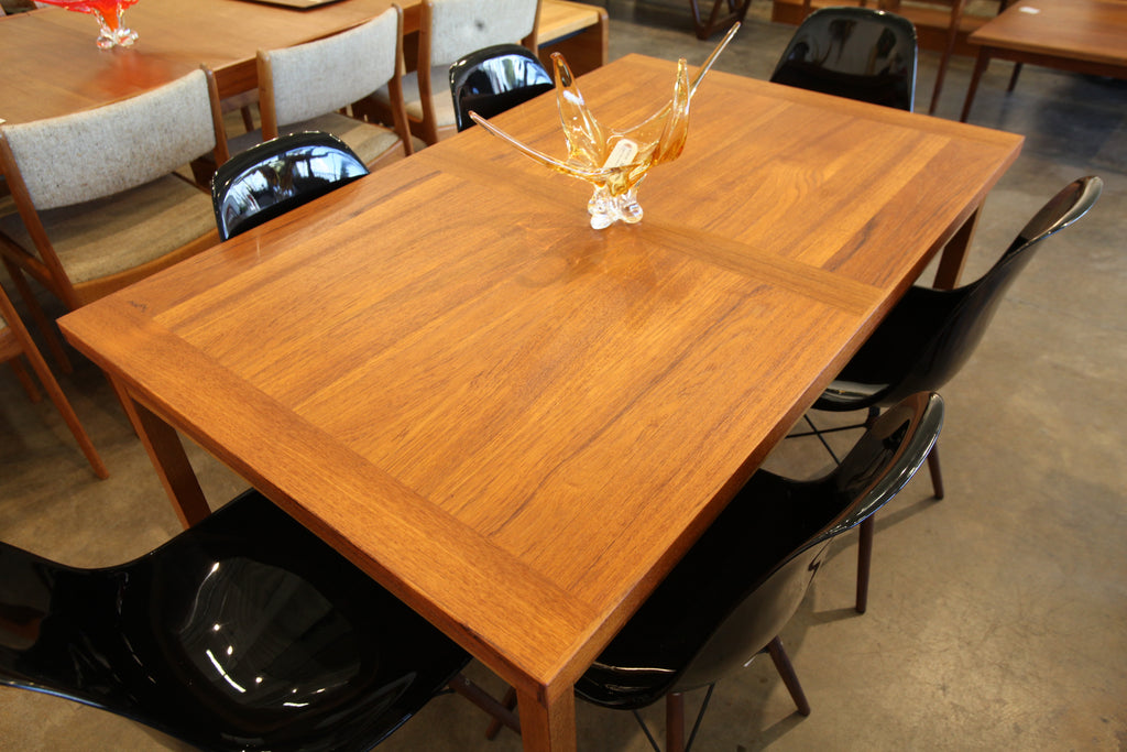 "Danish Teak Extension Dining Table (94.5"" x 35.5"") (55"" x 35.5"") 28.75""H"