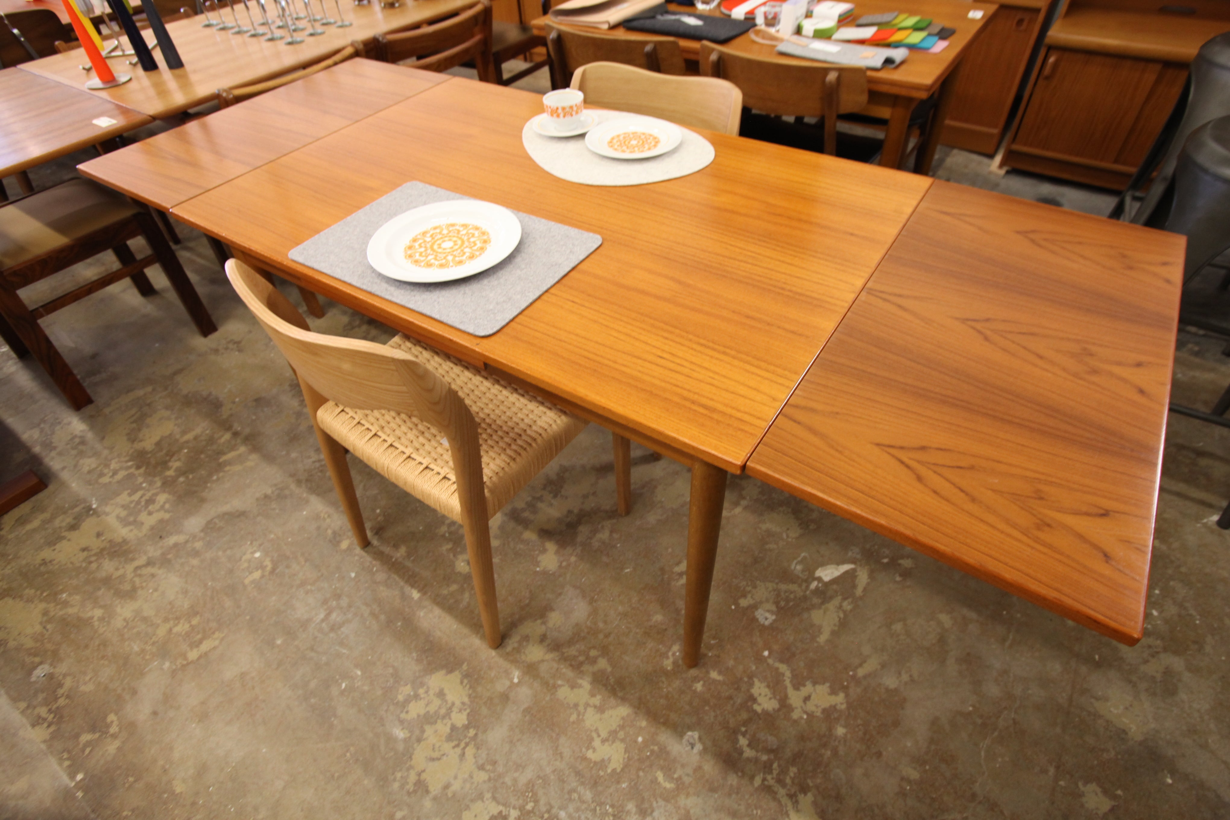 "Vintage Danish Teak Extension Dining Table by Farstrup (48""x32"") (79.25""x32"") 29""H"