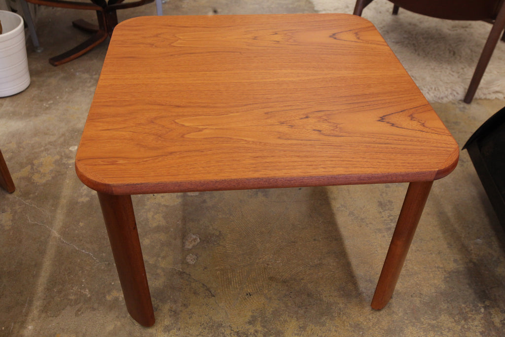 "Vintage Danish Teak Side Table (29.5"" x 29.5"" x 19.75""H)"