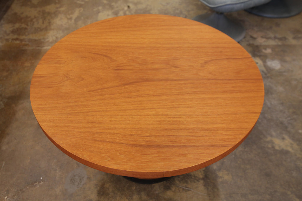 "Vintage Round Teak Side Table (30"" Dia x 18.5""H)"