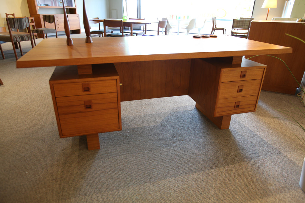 Teak Mid-Century Executive Desk Set