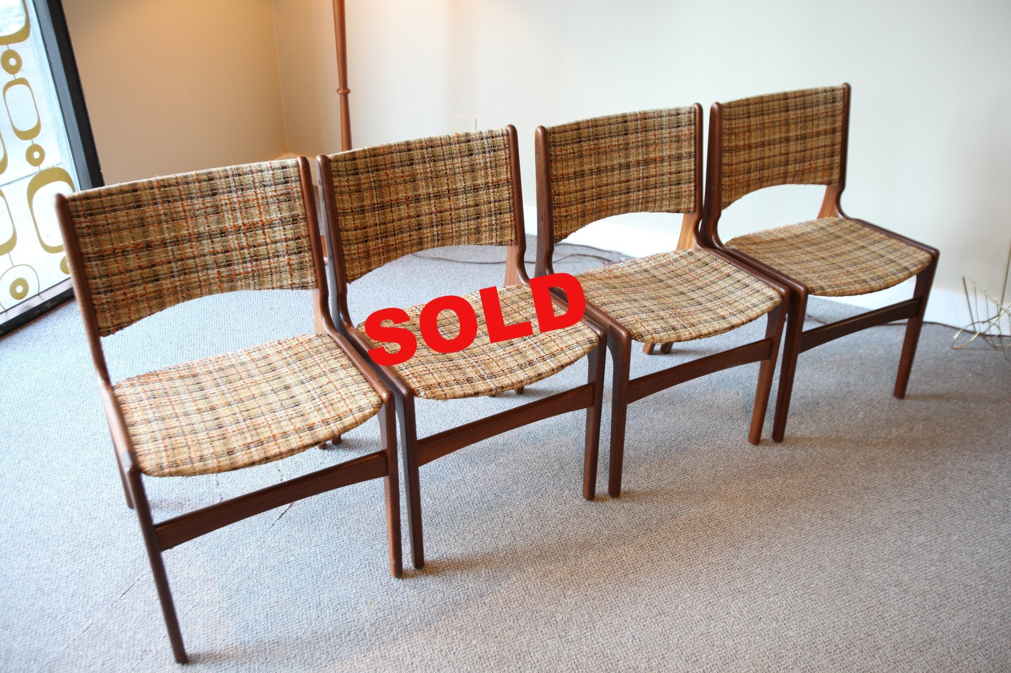 Set of 4 Teak Chairs