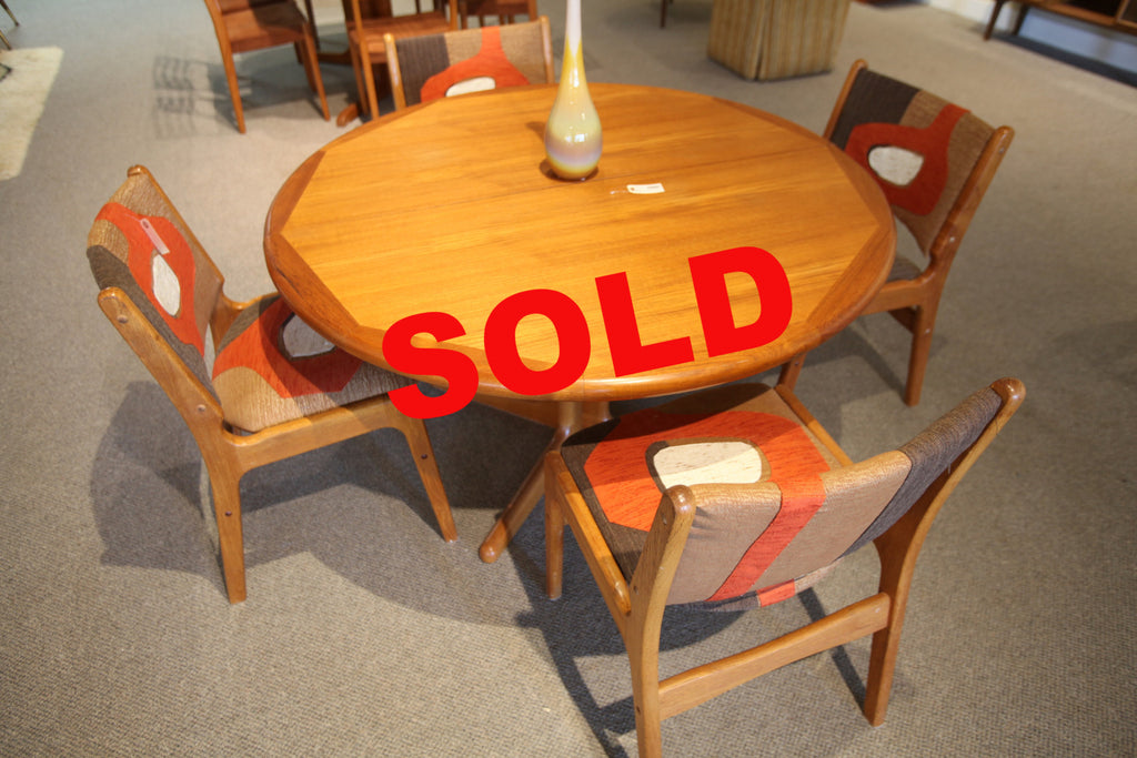 Danish Teak Table And Chairs Consign Design Edmonton - Teak table and 4 chairs